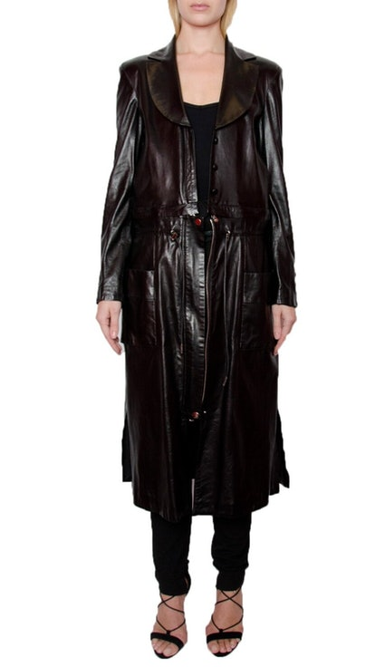 All Leather Infinity Combo Coat