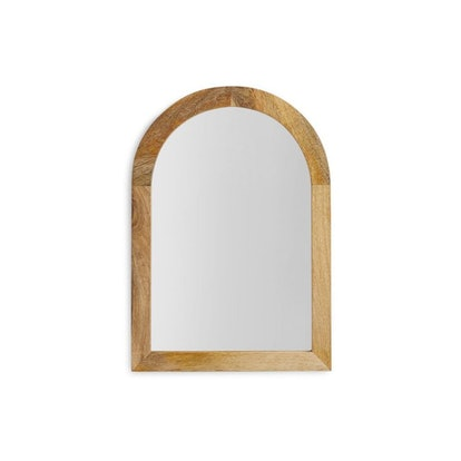 Arched Wood Framed Wall Mirror