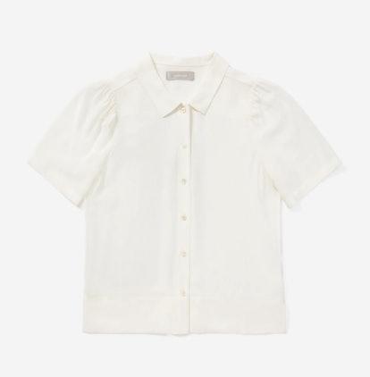 The Clean Silk Puff-Sleeve Shirt