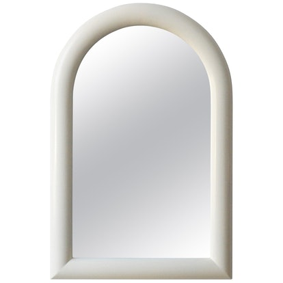 Arched Wall Mirror Newly Lacquered Wood