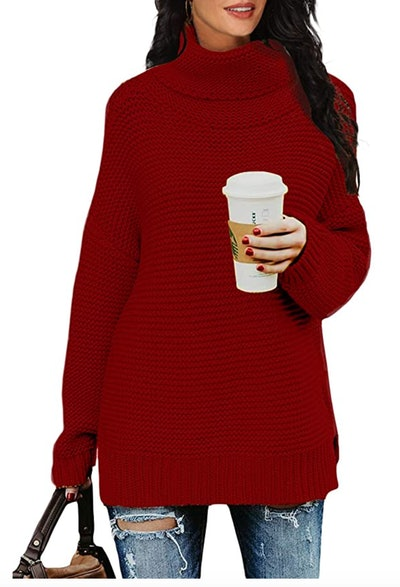 PrinStory Chunky Turtleneck Sweater
