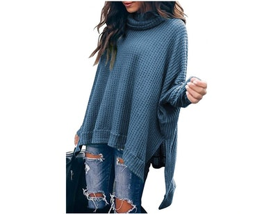 ANRABESS Turtleneck Batwing Sweater