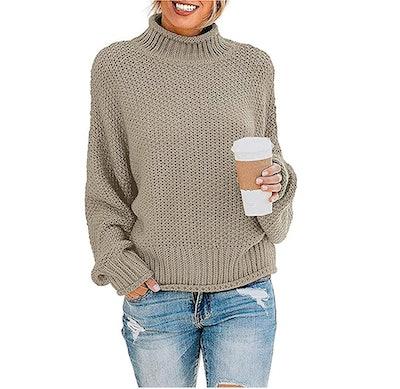 ZESICA Oversized Chunky Pullover