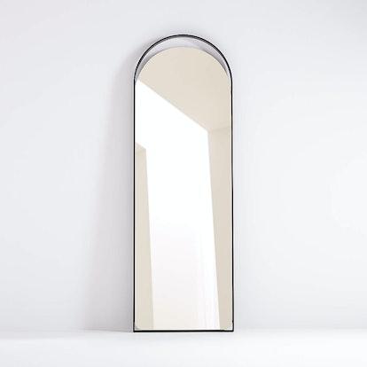 Aosta Black Arch Cutout Floor Mirror