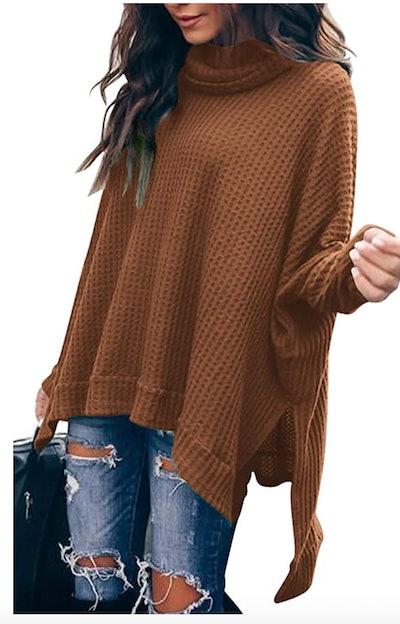 ANRABESS Batwing Sleeve Turtleneck Sweater