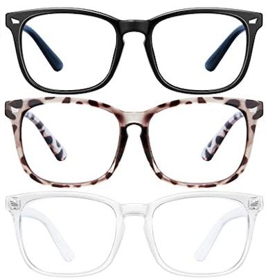 LNEKEI Bluelight Blocking Glasses (3-Pack)