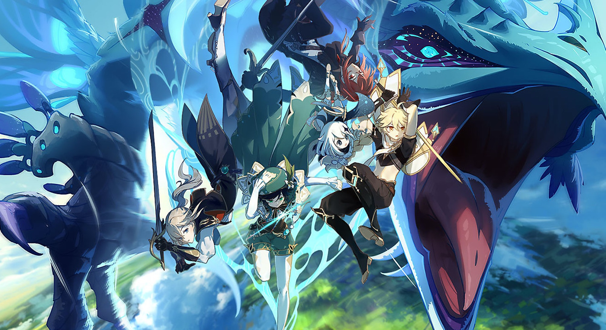 An assortment of Genshin Impact Characters tier list
