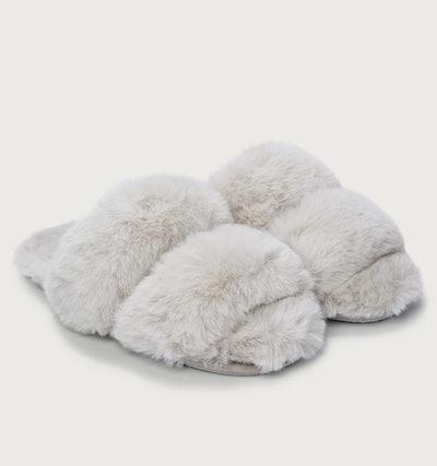 Faux-Fur Strap Slider Slippers