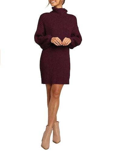 ANRABESS Oversized Sweater Dress