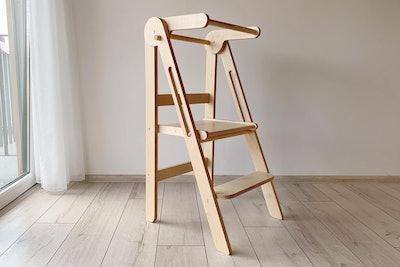 "Folding Helper Tower ""Peak"" Toddler Kitchen Step Stool"