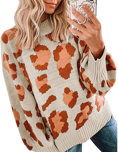 PRETTYGARDEN Leopard Print Sweater