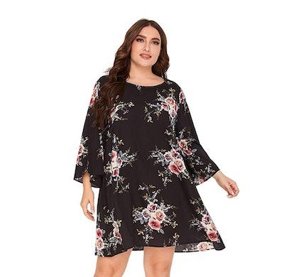 Romwe Plus-Size Boho Dress