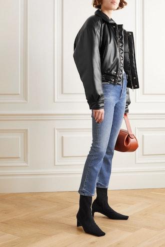 Bomi Vegan Leather Bomber Jacket