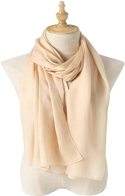 Bellonesc Silk Long Lightweight Shawl