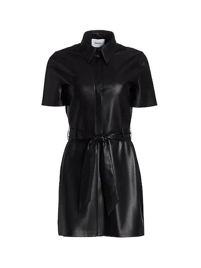 Halli Short-Sleeve Vegan Shirt Dress