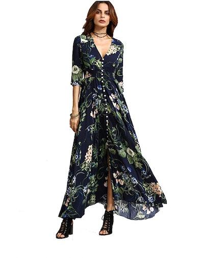 Milumia Button-Up Split Maxi Dress
