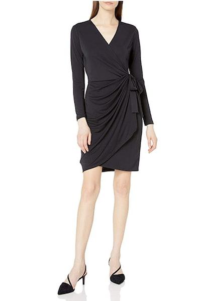 Lark & Ro V-Neck Wrap Dress