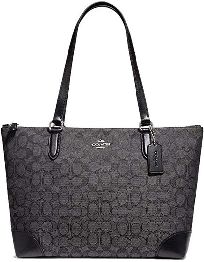 COACH Signature PVC Zip Tote Bag