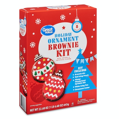 Great Value Holiday Ornament Brownie Kit