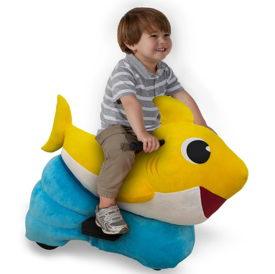 The new Baby Shark plush ride on toy is perfect for little ocean explorers.
