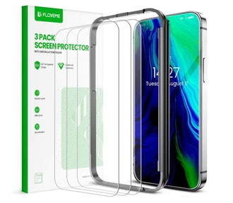 FLOVEME iPhone Glass Screen Protector (3-Pack)
