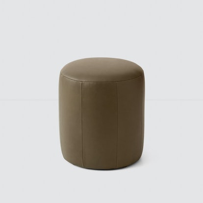 Torres Round Leather Ottoman - Small