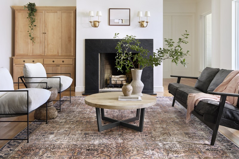 The Chris Loves Julia x Loloi collab includes many vintage-inspired rugs