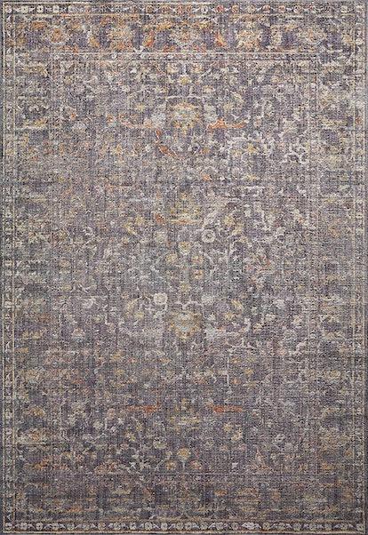 "Rosemarie ROE-04 Graphite / Multi Oriental Area Rug 5' x 7'-10"""