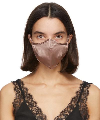 Tan Silk Luxe Face Mask