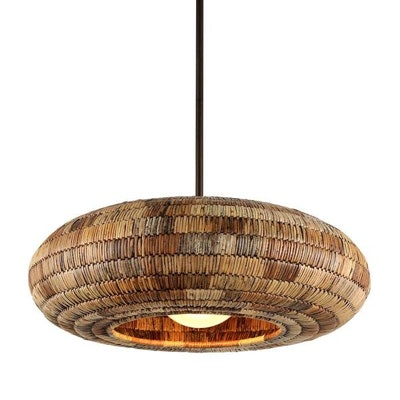 Breuer 1-Light 32 in. Wide Natural Malacca Pendant