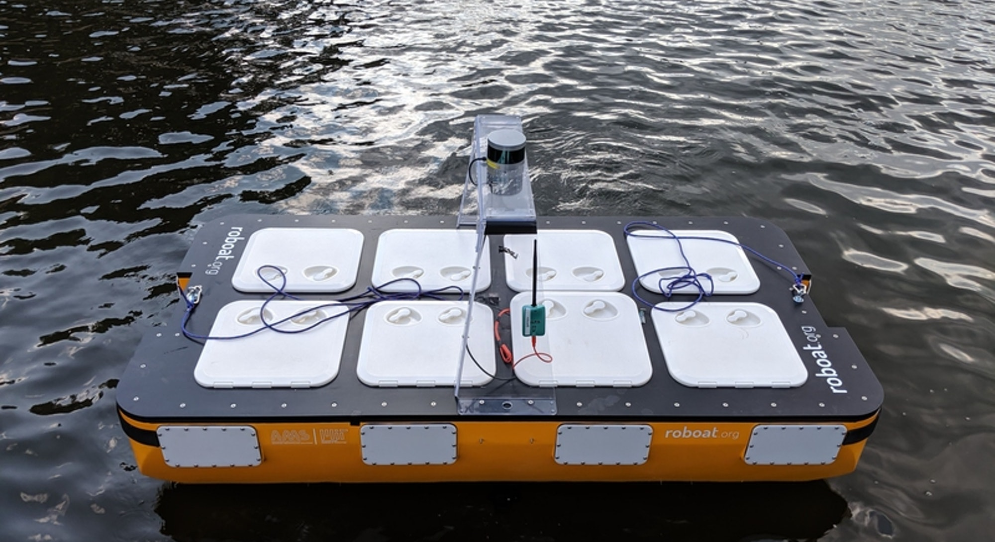 The autonomous Roboat II made by MIT CSAIL and researchers in Amsterdam