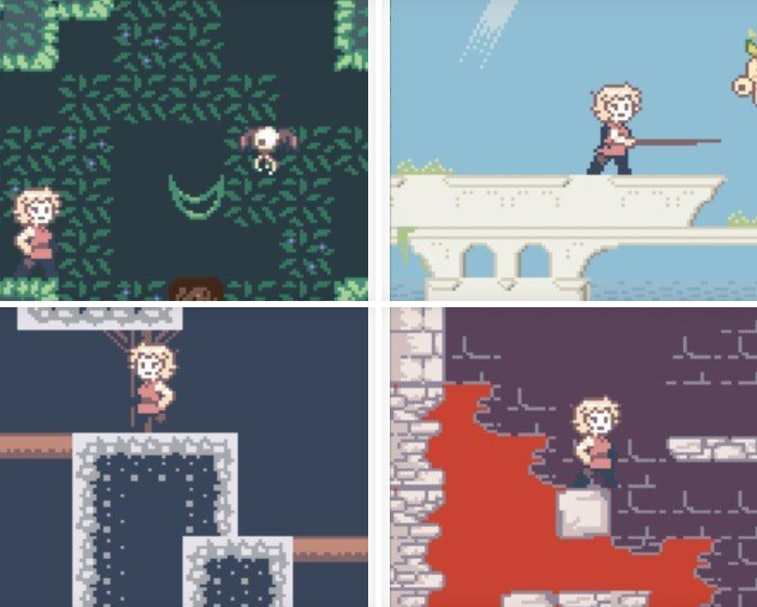 Coria and the Sunken City is a new game being created for the decades-old Nintendo Game Boy.