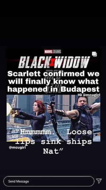 Jeremy Renner Black Widow