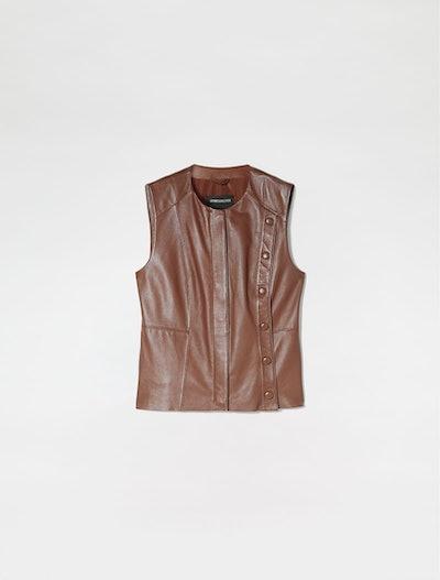 Nappa Leather Gilet