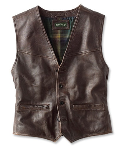 Powderhorn Leather Vest