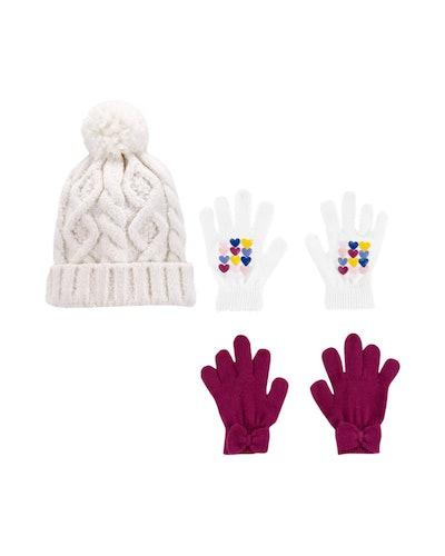 3-Pack Gloves & Hat