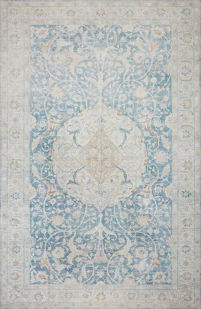 """Jules JUL-03 Antique / Sky Oriental Area Rug 8'-6"""" x 11'-6"""""""