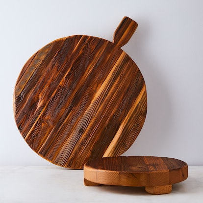 Vintage-Inspired Reclaimed Wood Footed Serving Board