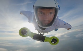 BMW created an electric wingsuit with a top speed of 186mph.