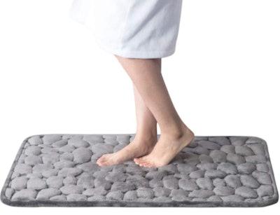 Bedsure Cobblestone Memory Foam Bath Mat