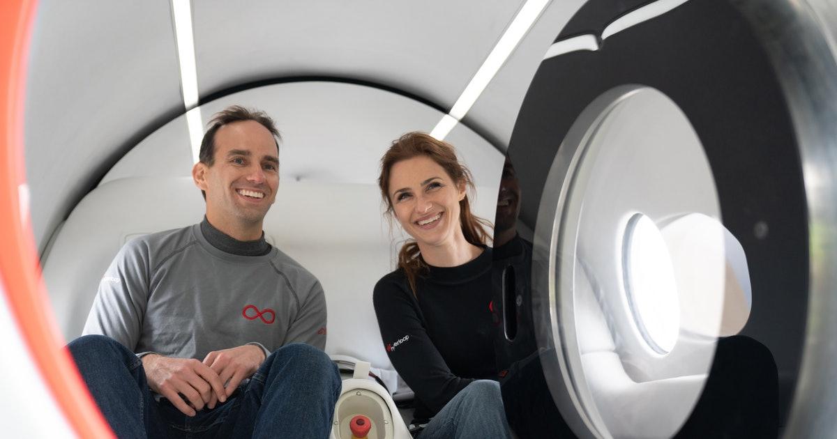 Virgin Hyperloop: first two passengers ride in historic test