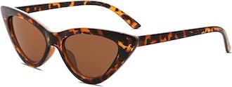 SOJOS Retro Narrow Cat Eye Sunglasses