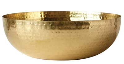 Creative Co-Op Round Hammered Metal Bowl