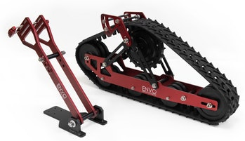 Canadian company Envo created a kit for converting mountain bikes into electric snowmobiles.