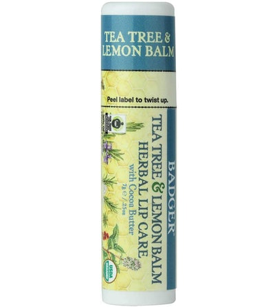Badger Tea Tree & Lemon Lip Balm, 0.25 Oz.