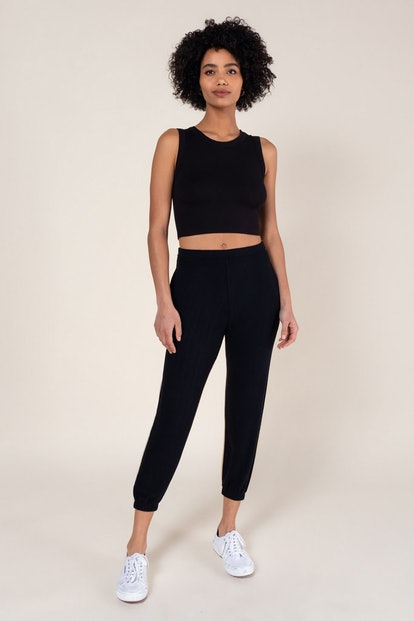 Cropped Sleeveless Crewneck