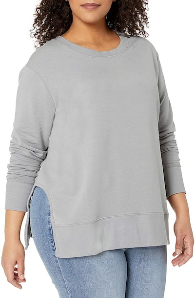 Daily Ritual Women's Plus-Size Terry Cotton Pullover