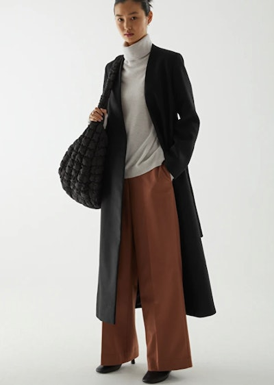 Belted Wool-Cashmere Coat