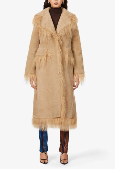 Jimy Fringe-Trim Shearling Coat