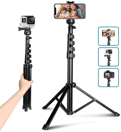 Aureday Camera & Cell Phone Tripod Stand with Bluetooth Remote